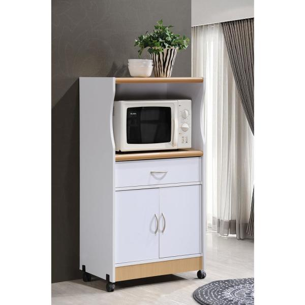 Microwave Cart With Storage Hik77 White