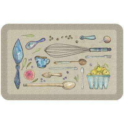 20 in. x 32 in. Designer Comfort Kitchen Mat Kitchen Tools Warm Stone