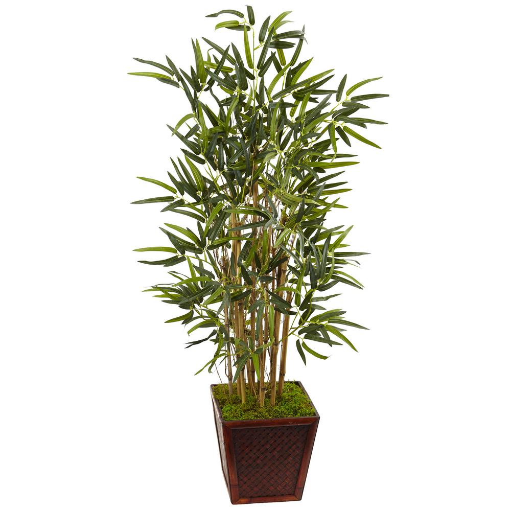 Nearly Natural Indoor Bamboo Artificial Tree in Bamboo Square 5803 on artificial bamboo potted plant, artificial house plants & trees, artificial ficus trees for home decor, china doll plant, artificial bamboo vine,