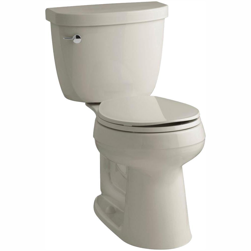 Cimarron Comfort Height 2-Piece 1.28 GPF Single Flush Round Toilet with AquaPiston Flush Technology in Sandbar