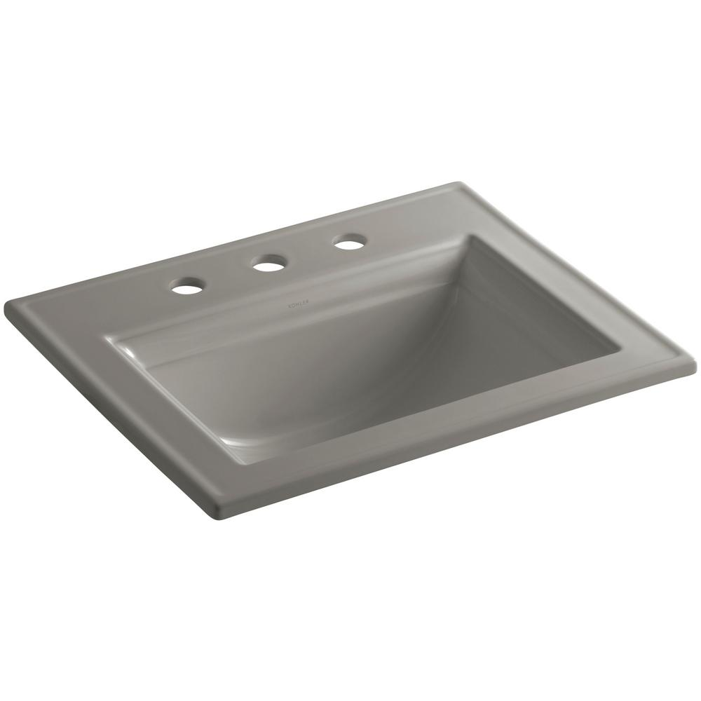 Kohler Memoirs Drop In Vitreous China Bathroom Sink In Cashmere With Overflow Drain K 2337 8 K4