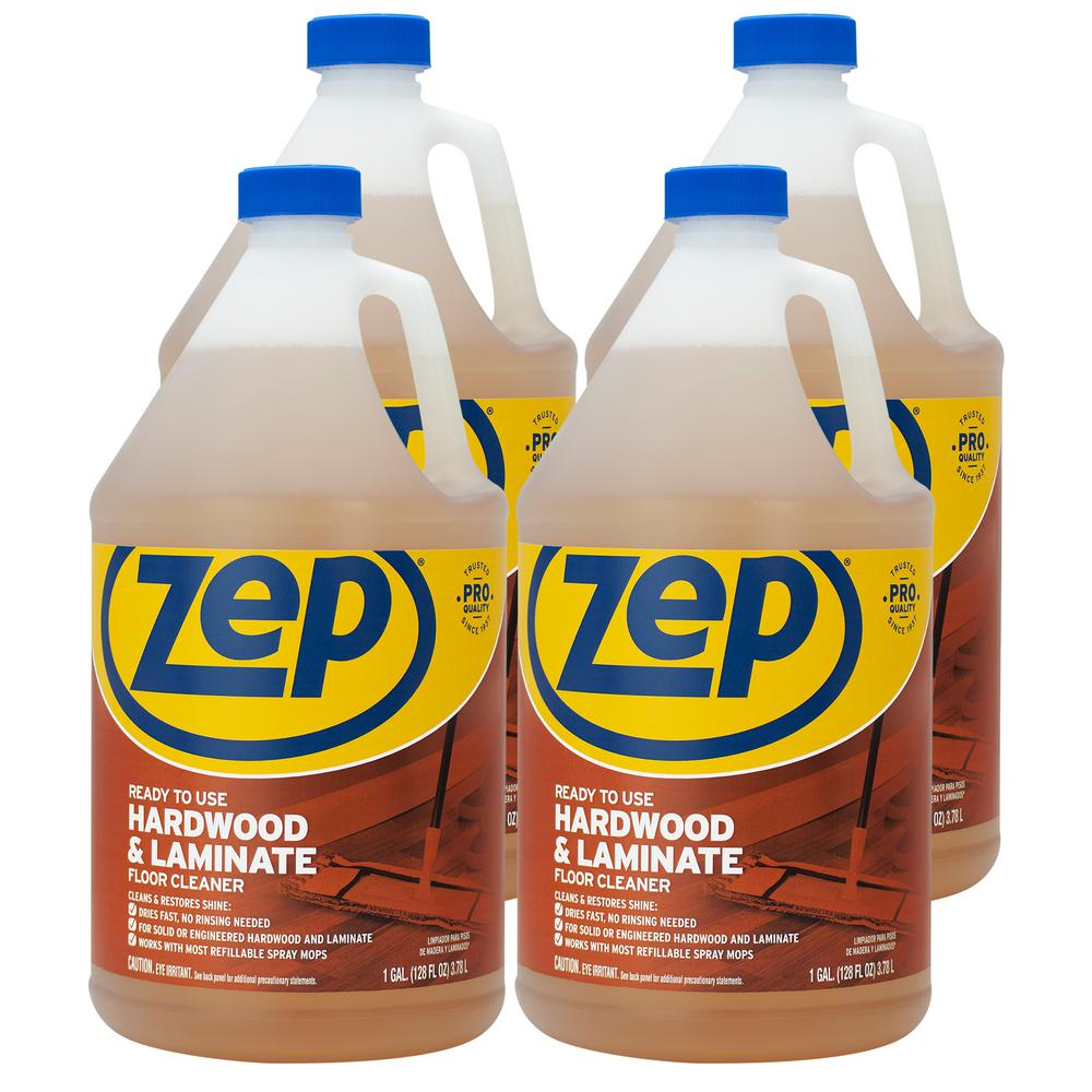 Zep 1 Gallon Hardwood And Laminate Floor Cleaner Case Of 4