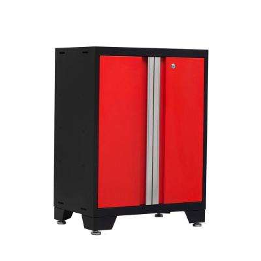 Bold 3 Series 35 in. H x 24 in. W x 16 in. D 24-Gauge Welded Steel 2-Door Base Cabinet in Red