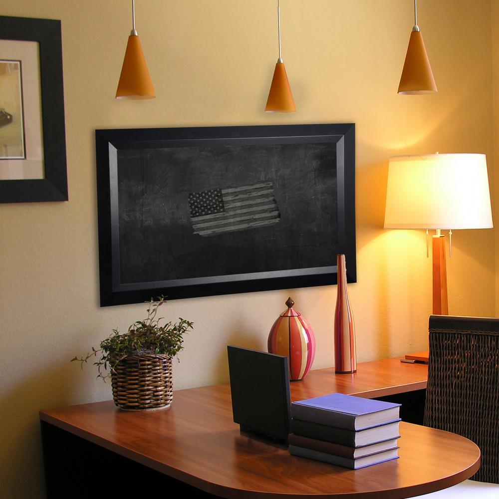 48 in. x 30 in. Solid Black Angle Blackboard/Chalkboard