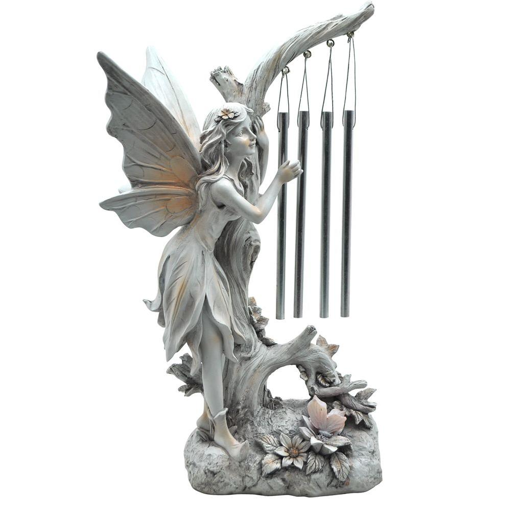 enjoyable home depot garden statues. Moonrays Pixie Light with Chime Solar Powered Integrated LED Outdoor  Landscape Garden 91551 The Home Depot