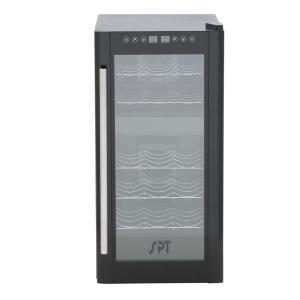SPT 13-1/2 inch 18-Bottle Thermoelectric Wine Cooler with Dual Zone and Heating by SPT