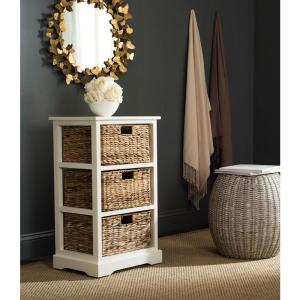 Halle Distressed White Chest