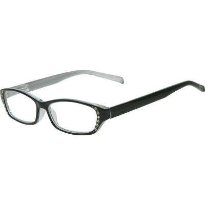 Lily Black with Pearl Silver Women's 1.25 Diopter Reading Glasses