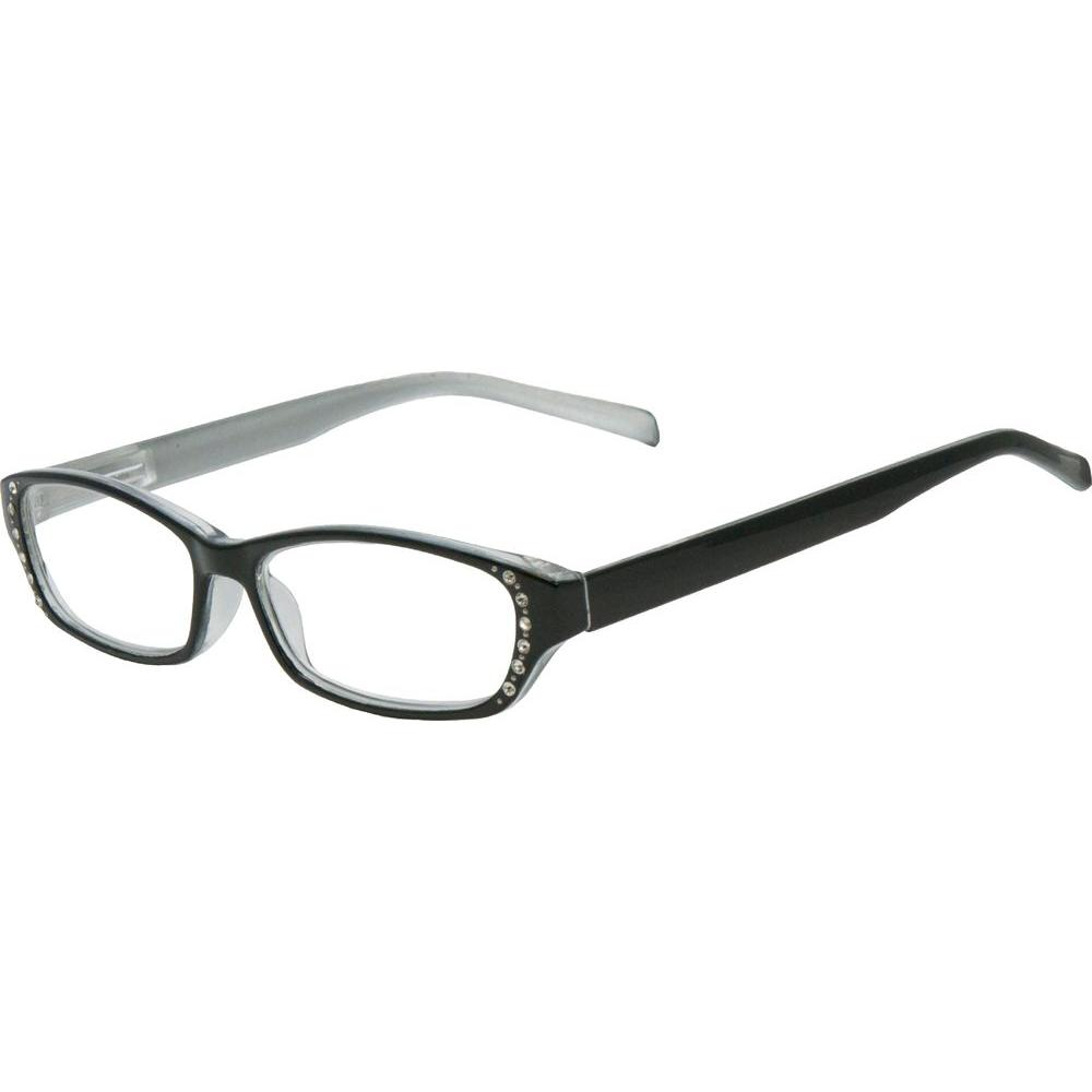Envy Lily Black with Pearl Silver Women's 1.75 Diopter Reading Glasses