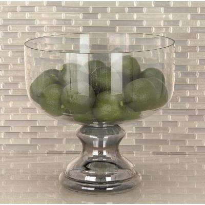 Clear Glass Pedestal Bowl Candle Holder