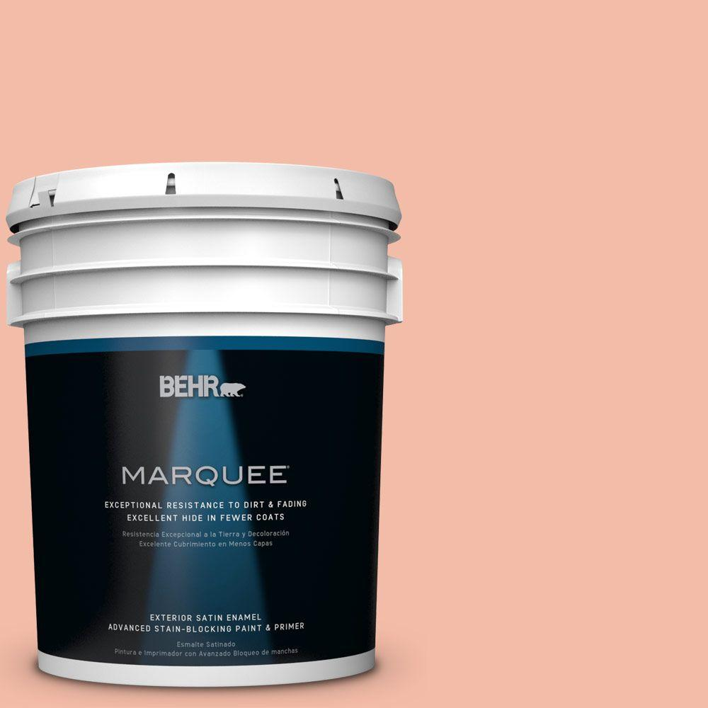 5 gal. #HDC-CT-14A Sunkissed Apricot Satin Enamel Exterior Paint