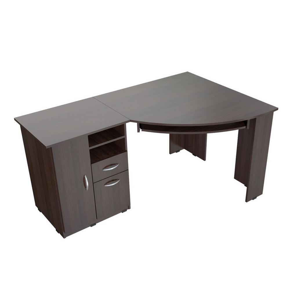 Sauder Dakota Pass Char Pine Computer Desk With Hutch