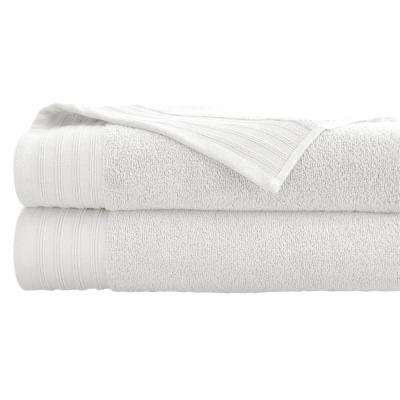 Oversized Quick Dry Bath Sheets in White (2-Pack)