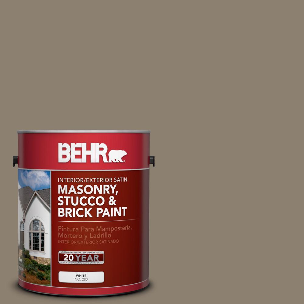 1 gal. #720D-5 Mocha Accent Satin Interior/Exterior Masonry, Stucco and Brick Paint