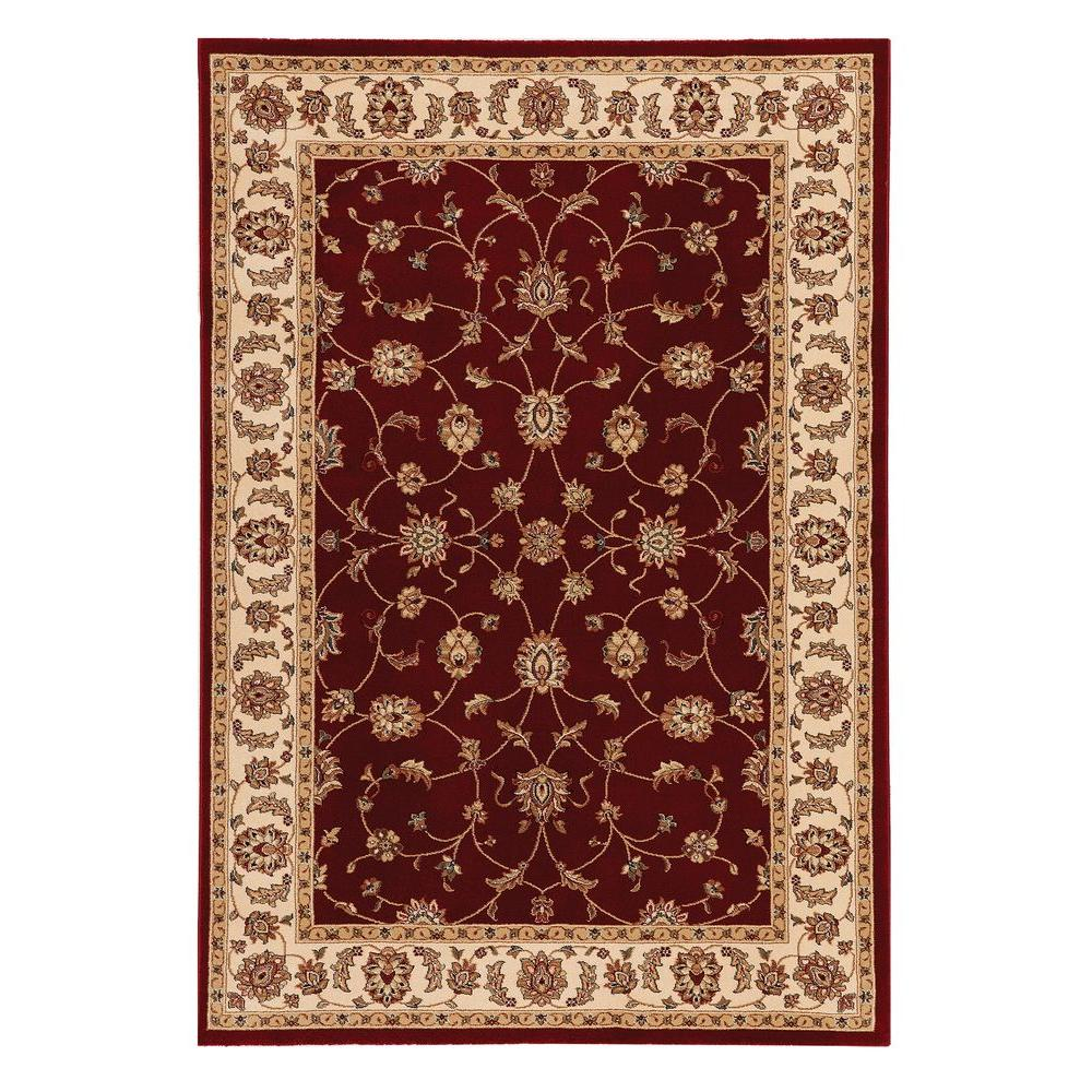 Home Decorators Collection Claire Red Beige 5 Ft 3 In X 7