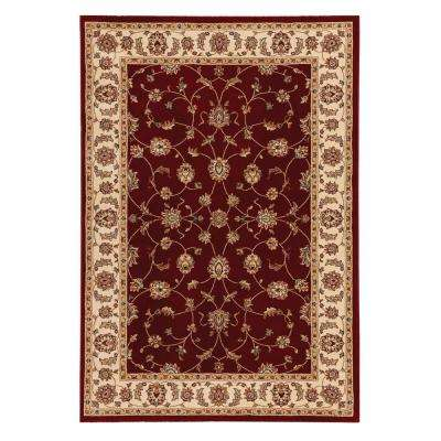 Claire Red/Beige 5 ft. 3 in. x 7 ft. 5 in. Area Rug