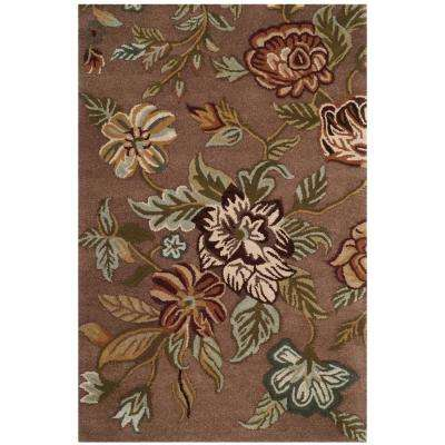Blossom Brown/Multi 4 ft. x 6 ft. Area Rug