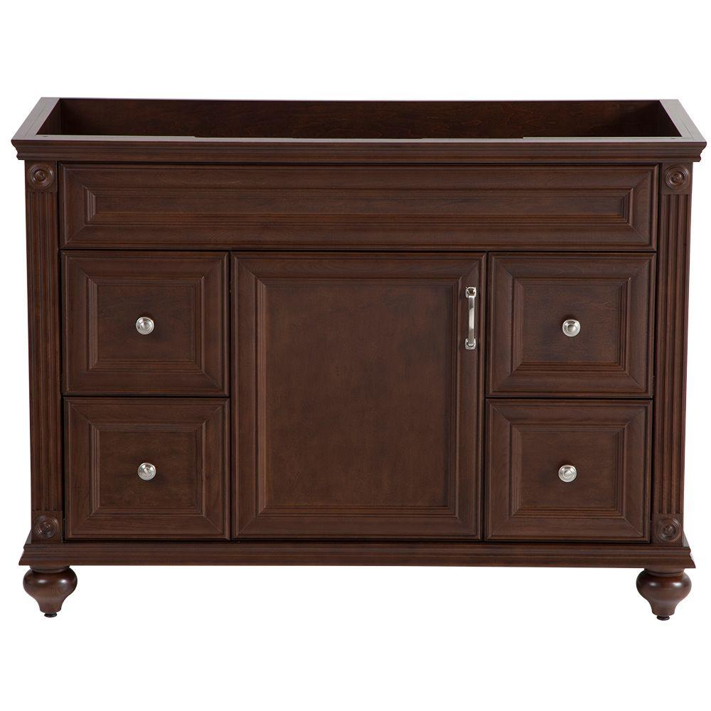 Annakin 48 in. W Bath Vanity Cabinet Only in Cognac