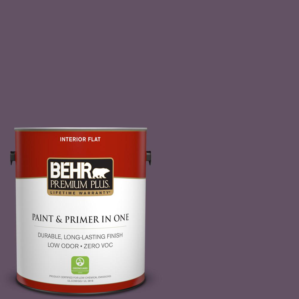 BEHR Premium Plus Home Decorators Collection 1-gal. #HDC-CL-03 Grand Grape Zero VOC Flat Interior Paint