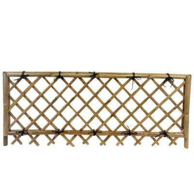 24 in. H x 60 in. L Take-Gaki Bamboo Pedestrian Fence with Lattice