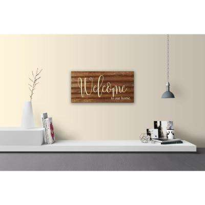 "Reclaimed Steel Metal Wall Art ""WELCOME TO OUR HOME"" Decorative Sign"