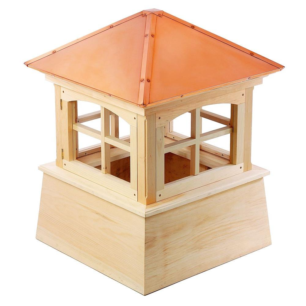 Good Directions Huntington 26 in. x 36 in. Wood Cupola with Copper Roof
