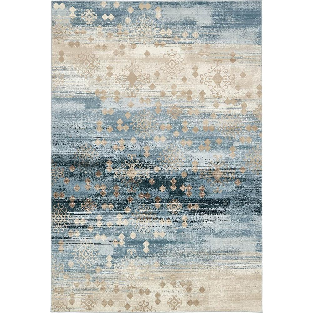 Unique Loom Chimera Dark Blue 7 ft. x 10 ft. Rug-3130835 - The Home ...