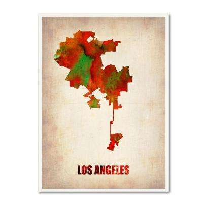 24 in. x 18 in. Los Angeles Watercolor Map Canvas Art
