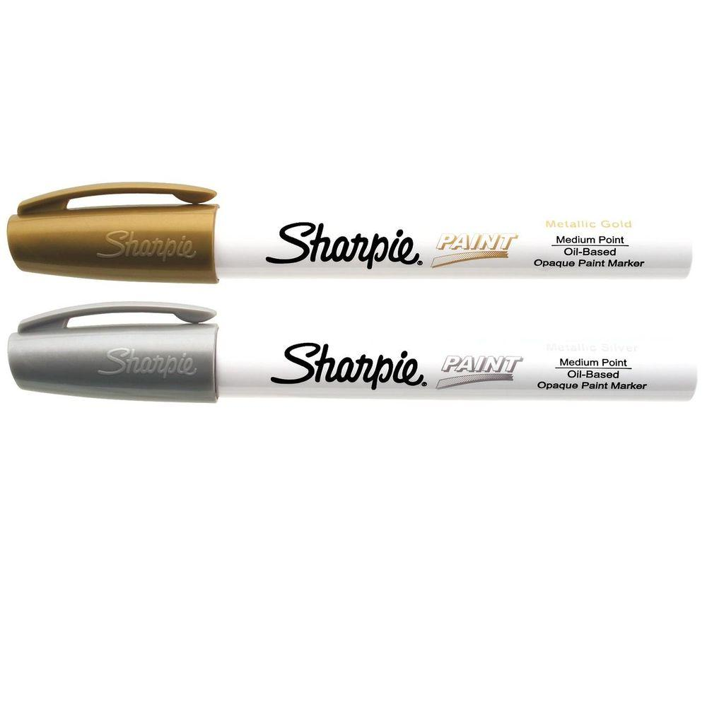 Sharpie Gold and Silver Medium Point Oil-Based Paint Marker (2-Pack)