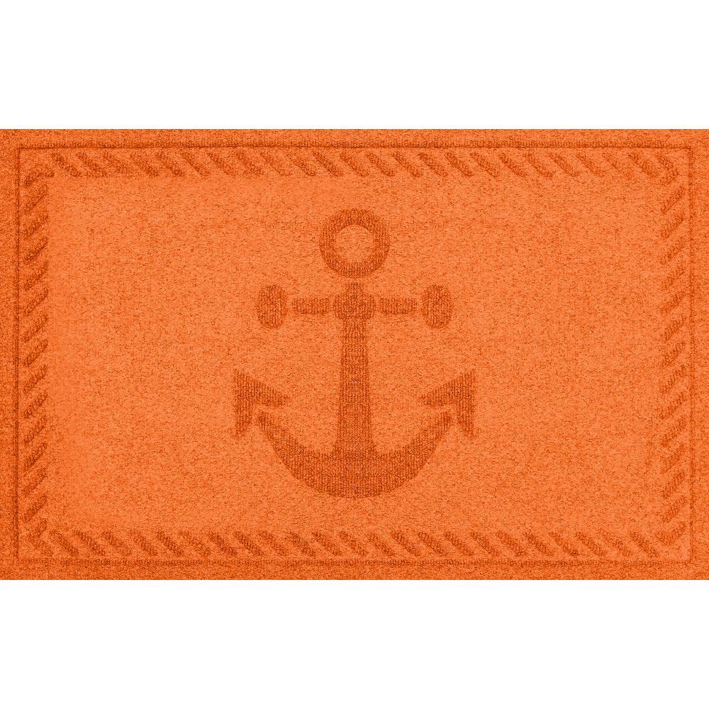 Orange 24 in. x 36 in. Ships Anchor Polypropylene Door Mat