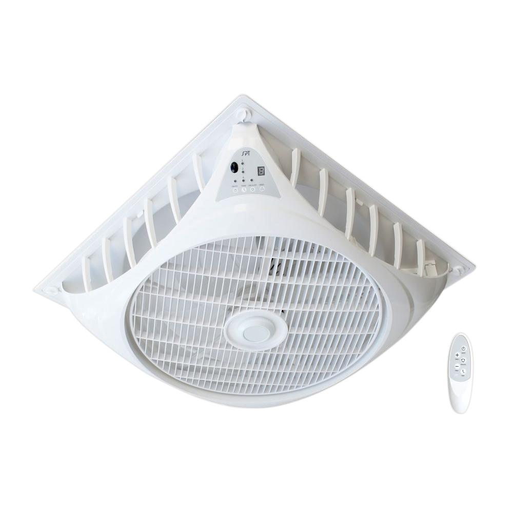 SPT 23.74 in. Indoor White DC-Motor Drop Ceiling Fan with Remote ...