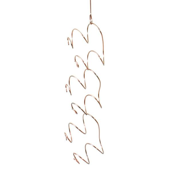 Oenophilia Climbing Tendril 6-Bottle Copper Hanging Wine Rack 010048