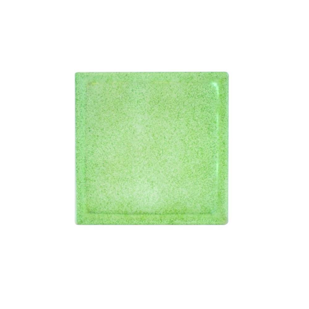 Pittsburgh Corning 8 in. x 8 in. x 4 in. Olive Green Art Glass Block
