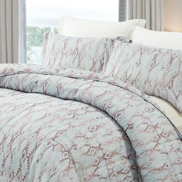 Natural Comfort Reversible 2 Piece Twin Plum All Season Down Alternative Comforter Mini Set Mc210 Tut Plumt The Home Depot