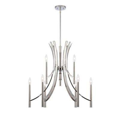 Cordova 9-Light Chrome Interior Incandescent Chandelier