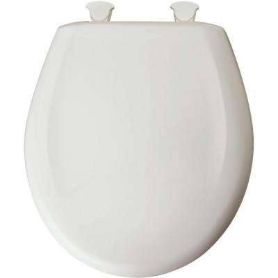 Round Closed Front Toilet Seat in Euro White