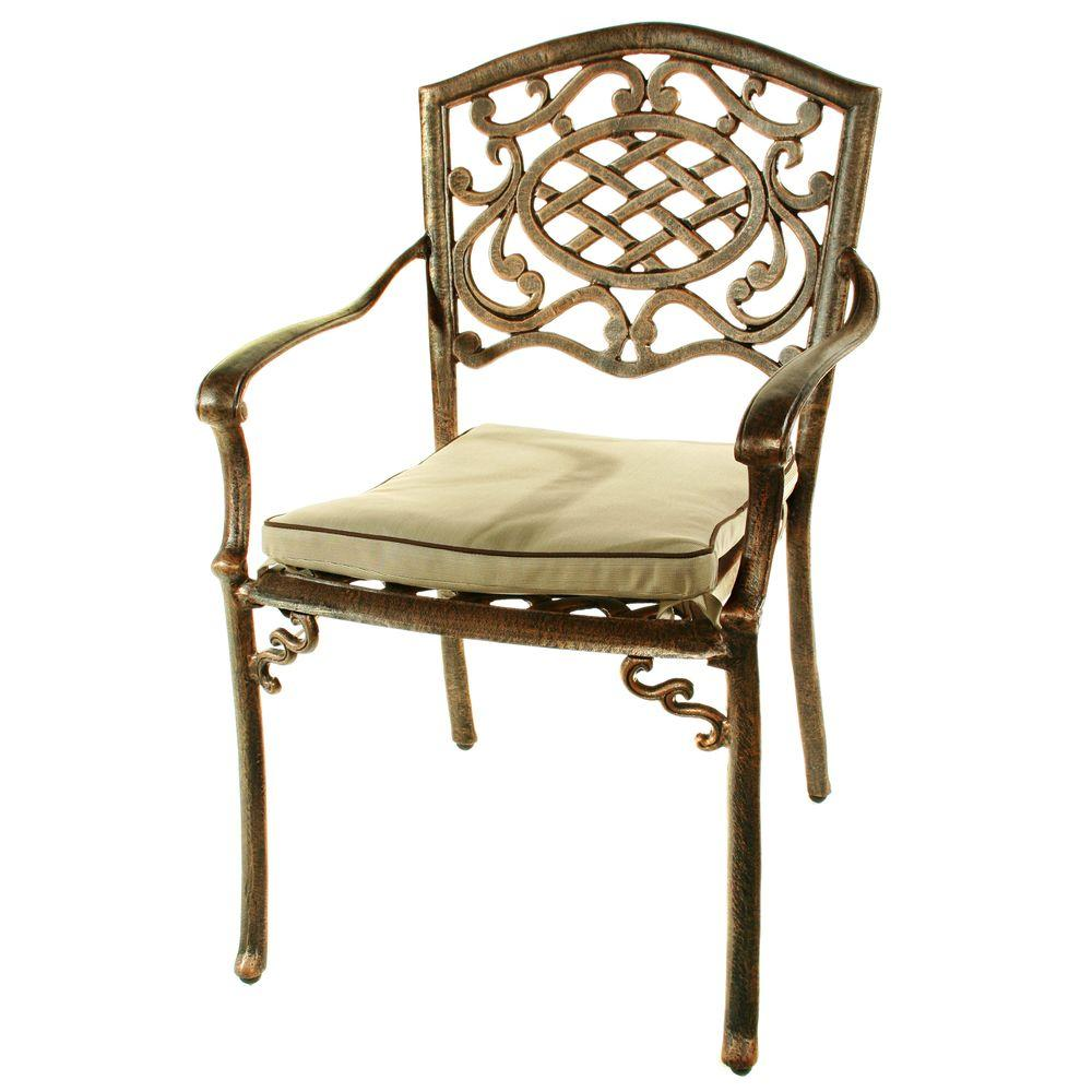 Oakland Mississippi Fully Welded Patio Arm Chair with Cus...