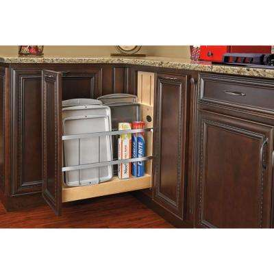 8 in. Pull-Out Wood Foil Wrap/Tray Divider Cabinet Organizer with Ball-Bearing Soft-Close Slides