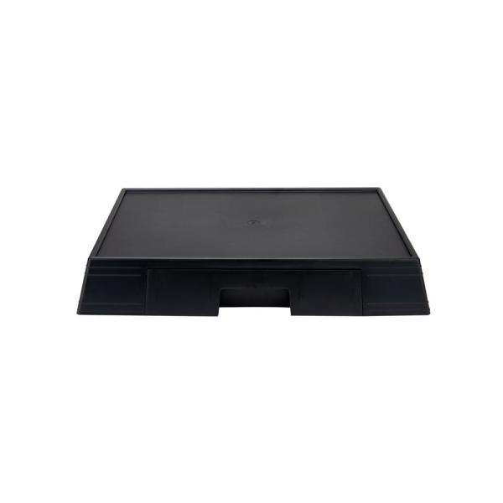 20.25 in. W x 3.5 in. H Black Under Microwave Storage 1-Drawer Stand