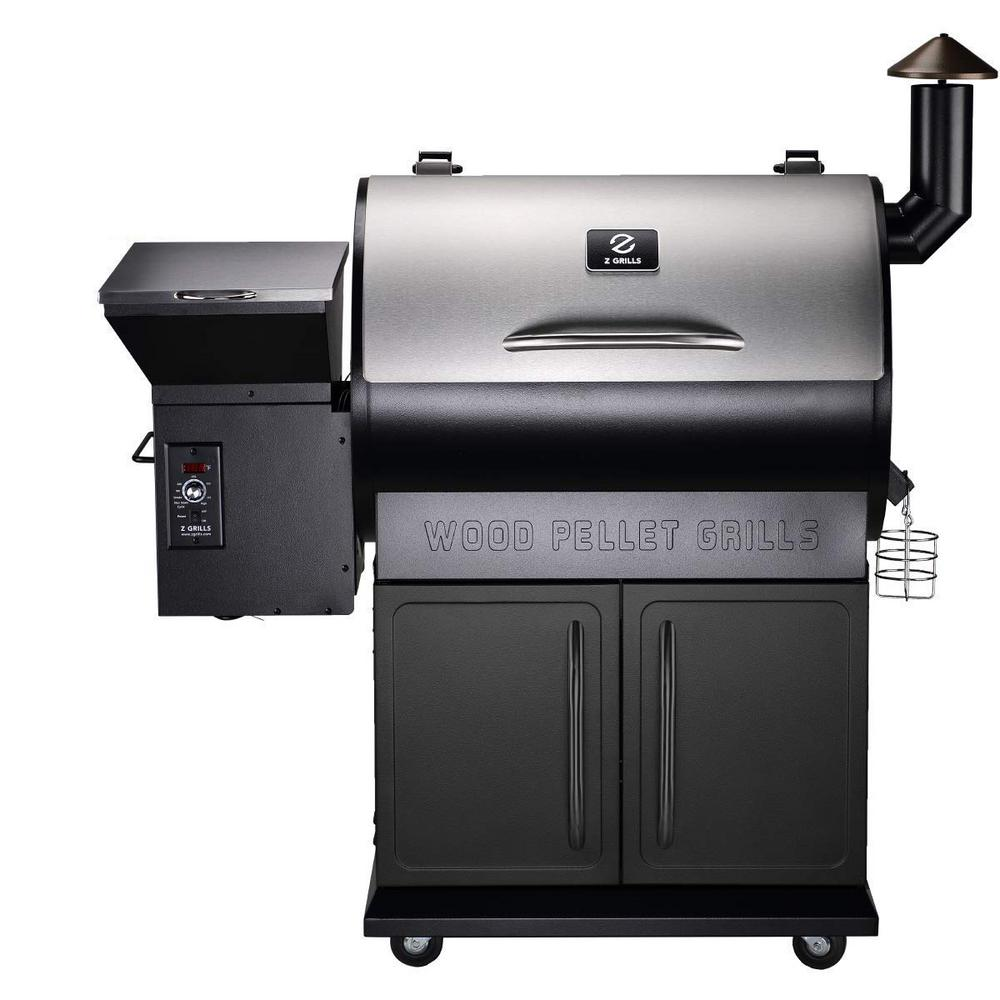 DIRECT WICKER Charles Wood Pellet BBQ Grill with Digital Temperature Controls and Smoker in Black