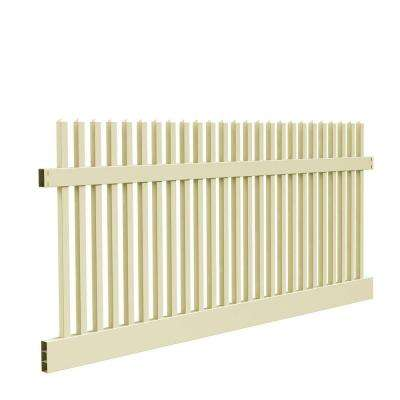 Yukon Straight 4 ft. H x 8 ft. W Sand Vinyl Un-Assembled Fence Panel