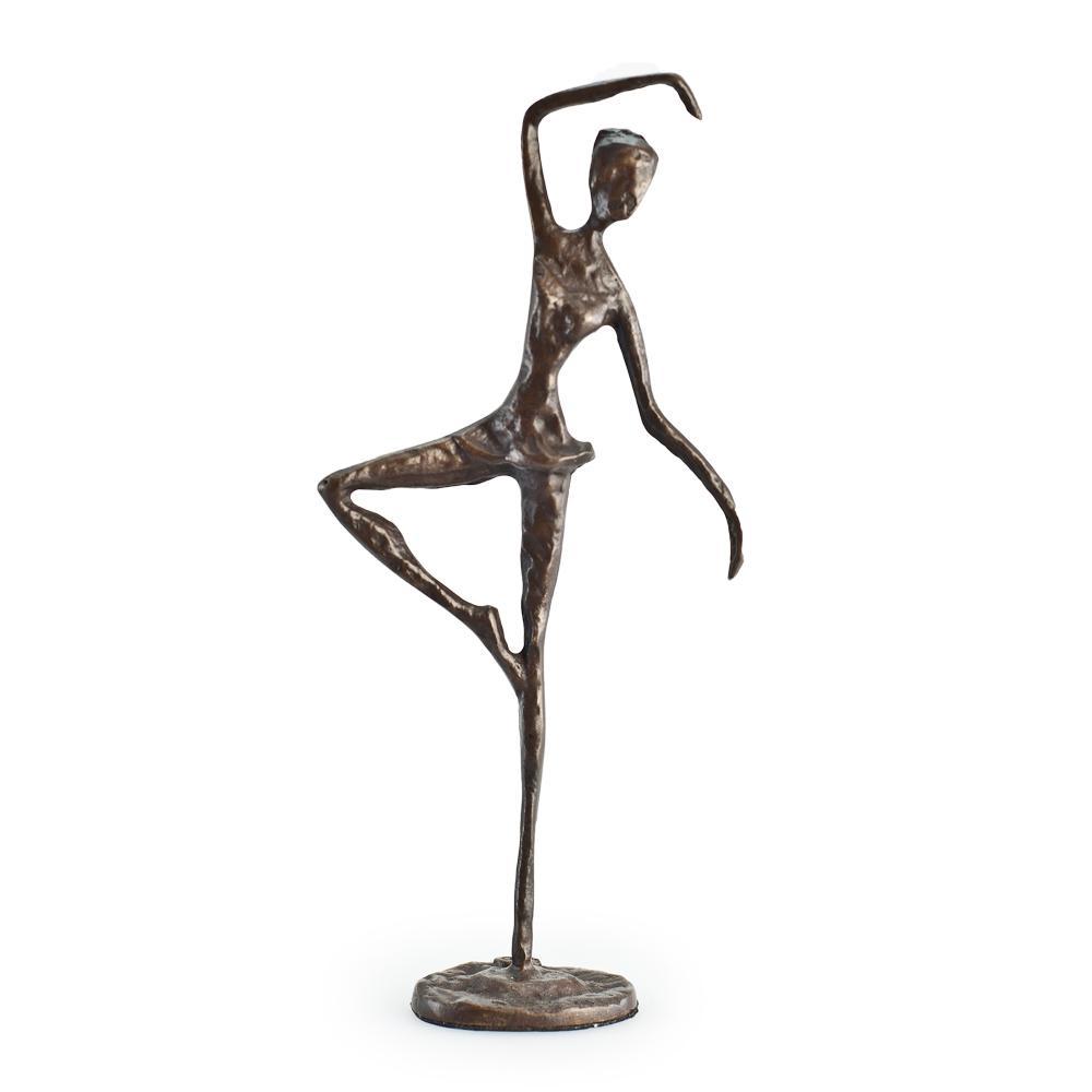 Standing Ballerina Human Figure Bronze Sculpture