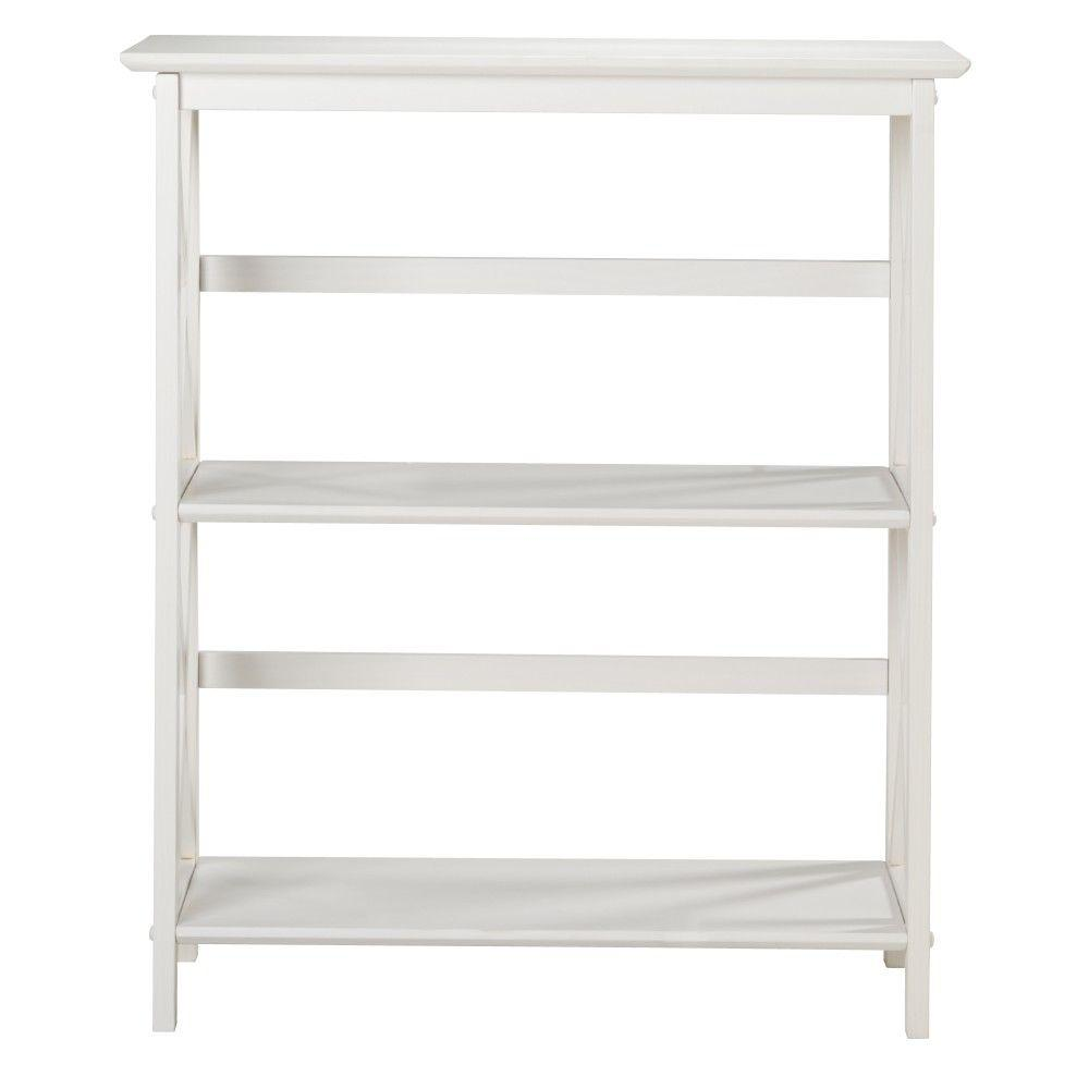 Home Decorators Collection Montego White Open Bookcase 0218310410 The Home Depot