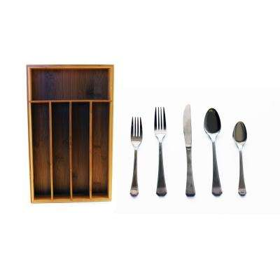 Everyday 60-Piece Flatware Set and Drawer Organizer