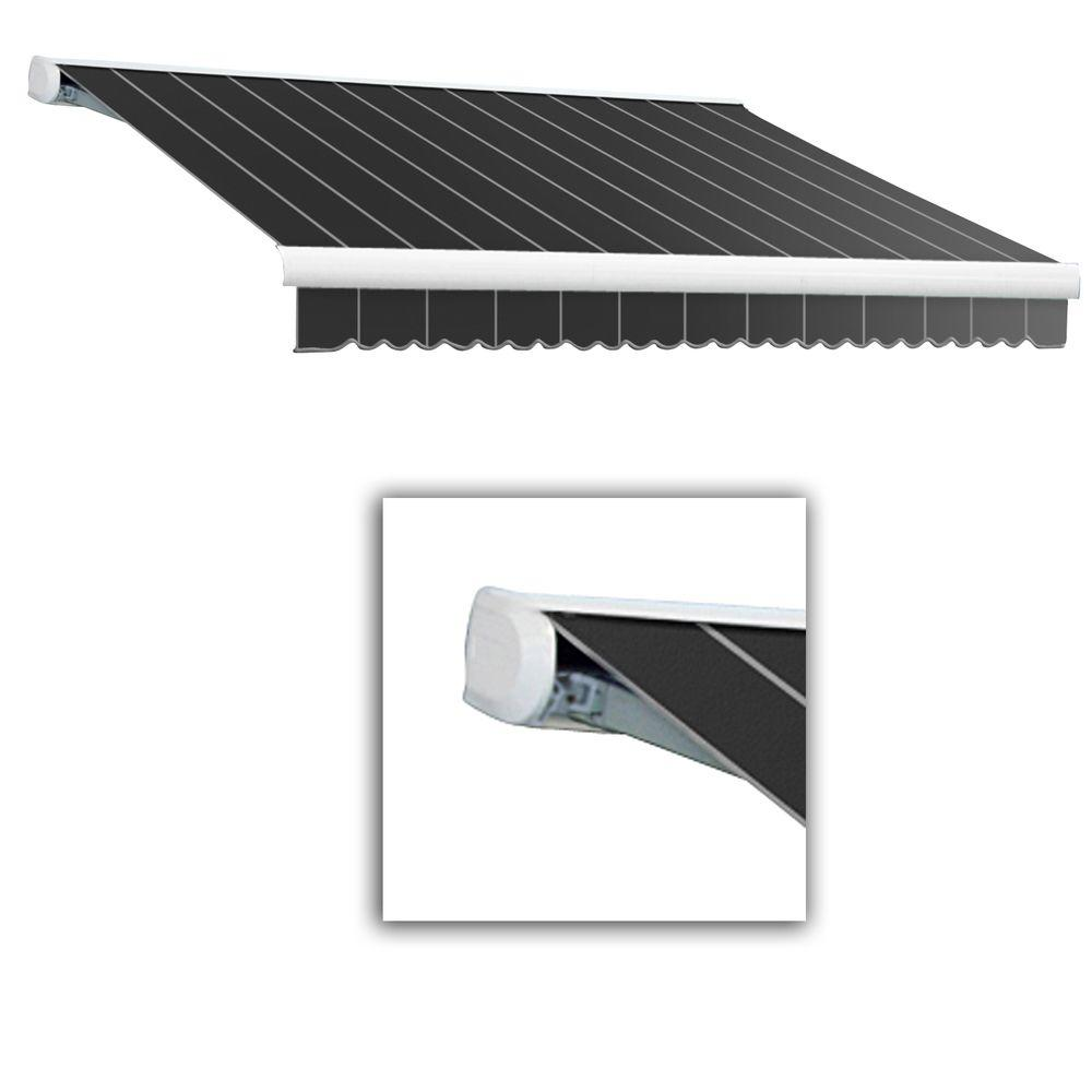 AWNTECH 12 ft. Key West Full-Cassette Right Motor Retractable Awning with Remote (120 in. Projection) in Gun Pin