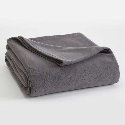 Microfleece Tornado Grey Polyester King Blanket