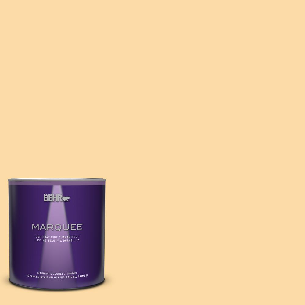 Behr Marquee 1 Qt M290 3 Corn Stalk Eggshell Enamel Interior Paint And Primer In One 245004 The Home Depot