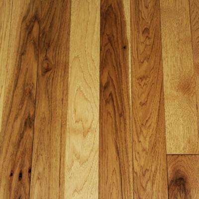 Take Home Sample - Wire Brushed Tanned Hickory Solid Hardwood Flooring - 5 in. x 7 in.