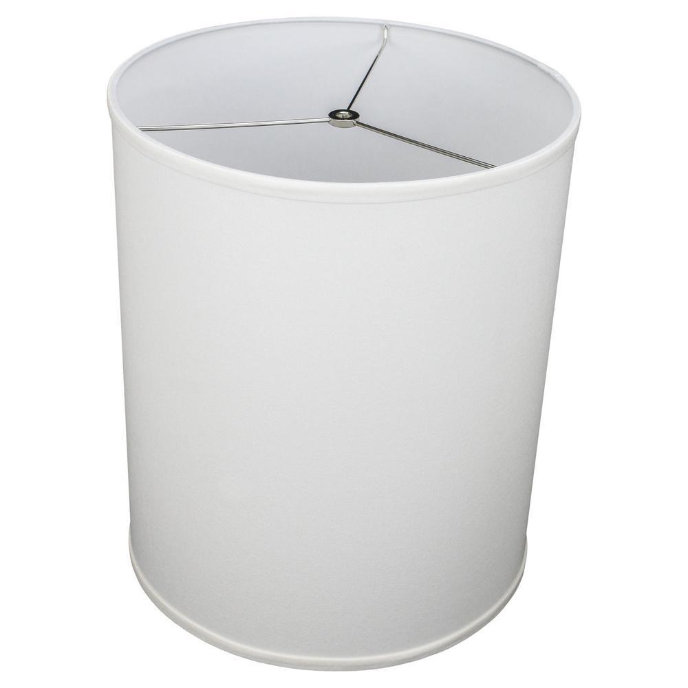 14 in. Top Diameter x 14 in. Bottom Diameter x 18 in. Height Linen White Drum Lamp Shade