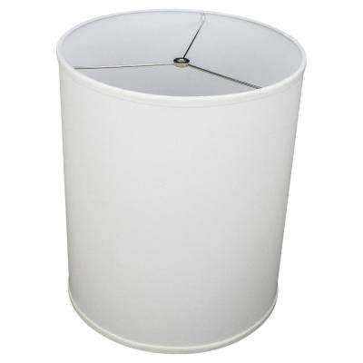 14 in. Top Diameter x 14 in. Bottom Diameter x 18 in. Height Linen White Drum Lamp Shade